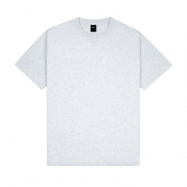 Dime Classic Small Logo Embroidered T-Shirt (Ash)