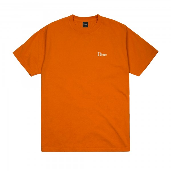 Dime Classic Small Logo Embroidered T-Shirt (Burnt Orange)