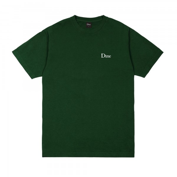 Dime Classic Small Logo Embroidered T-Shirt (Forest)