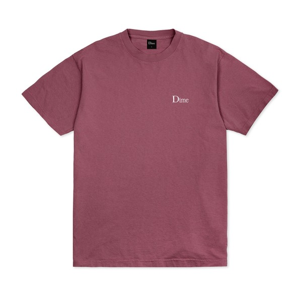 Dime Classic Small Logo Embroidered T-Shirt (Mauve)