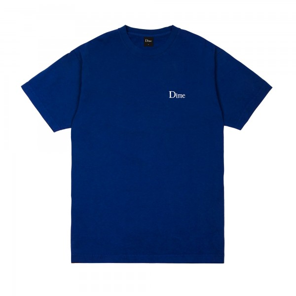 Dime Classic Small Logo Embroidered T-Shirt (Navy)