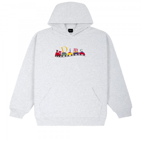 Dime Classic Train Embroidered Pullover Hooded Sweatshirt (Ash)