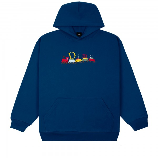 Dime Classic Train Embroidered Pullover Hooded Sweatshirt (Navy)