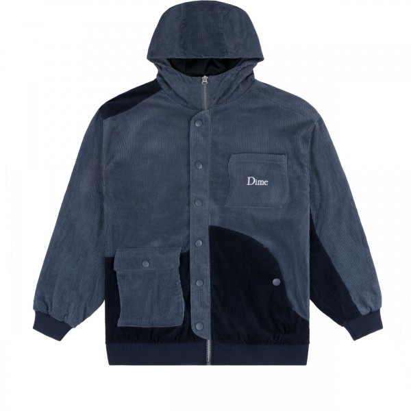 Dime Corduroy Hooded Jacket (Navy)