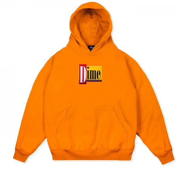 Dime Diner Pullover Hooded Sweatshirt (Orange)