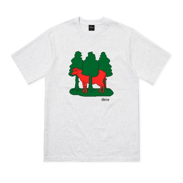 Dime Forest Cow T-Shirt (Ash)