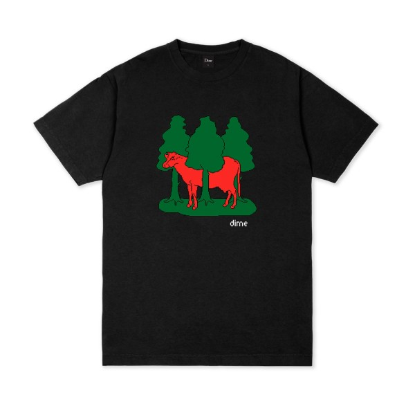 Dime Forest Cow T-Shirt (Black)