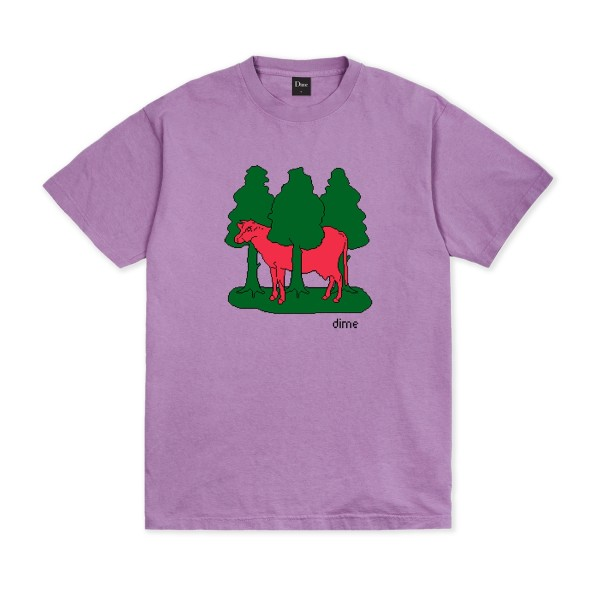 Dime Forest Cow T-Shirt (Lavender)