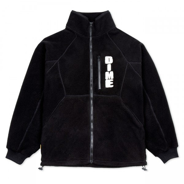 Dime Hi Pile Sherpa Fleece Jacket (Black)