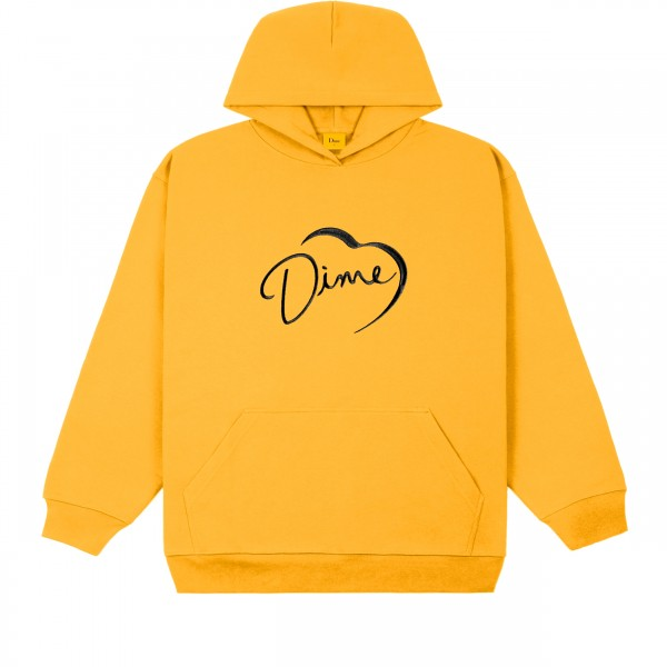 Dime I'm Alive Pullover Hooded Sweatshirt (Dark Yellow)