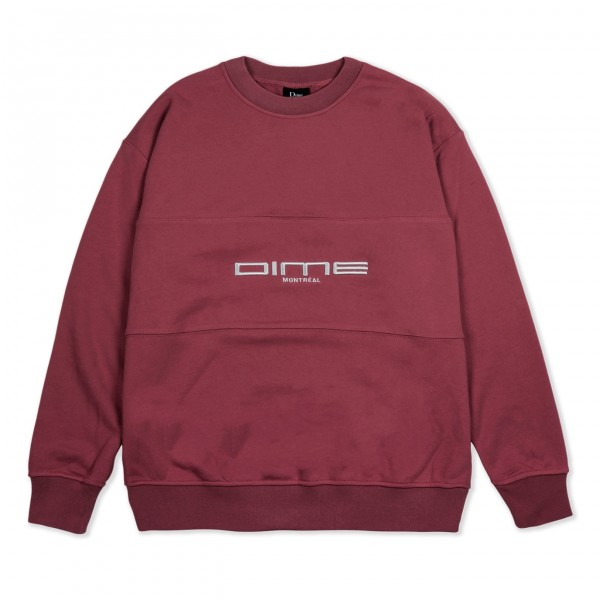 Dime Montreal French Terry Crew Neck Sweatshirt (Burgundy)