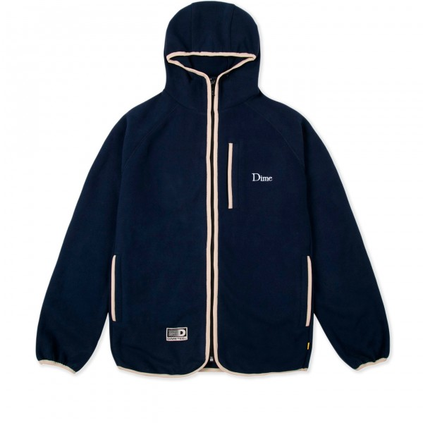 Dime Polar Fleece Hooded Jacket (Navy)