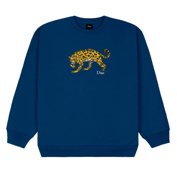 Dime Puzzle Cat Crew Neck Sweatshirt (Navy)