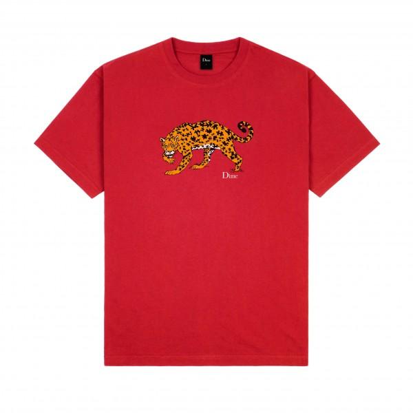 Dime Puzzle Cat T-Shirt (Cherry)
