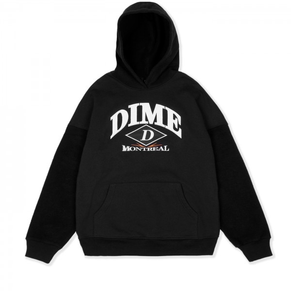 Dime Reverse Pullover Hooded Sweatshirt (Black)