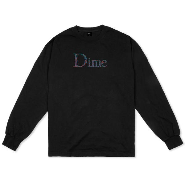 Dime Scribble Classic Logo Long Sleeve T-Shirt (Black)