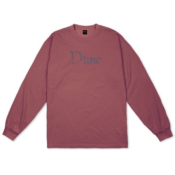 Dime Scribble Classic Logo Long Sleeve T-Shirt (Mauve)