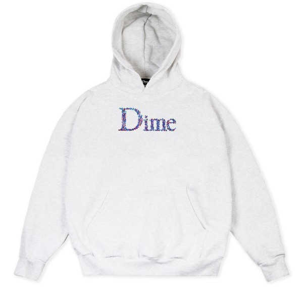 Dime Scribble Classic Logo Pullover Hooded Sweatshirt (Ash)
