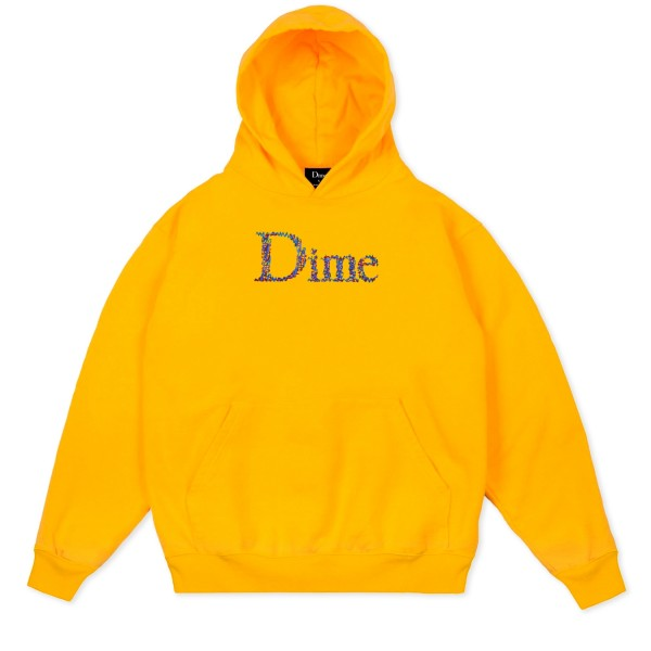 Dime Scribble Classic Logo Pullover Hooded Sweatshirt (Yellow)
