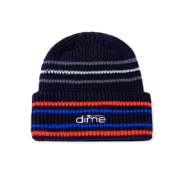 Dime Striped Beanie (Black)