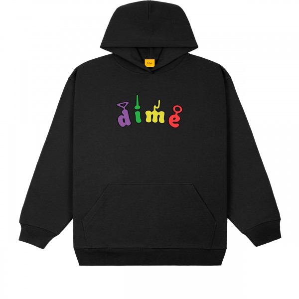 Dime Tubs Pullover Hooded Sweatshirt (Black)
