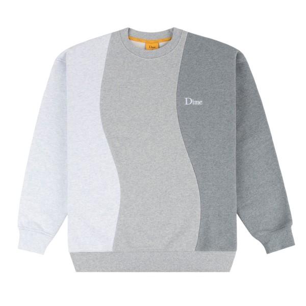 Dime Wavy 3-Tone Crew Neck Sweatshirt (Heather)
