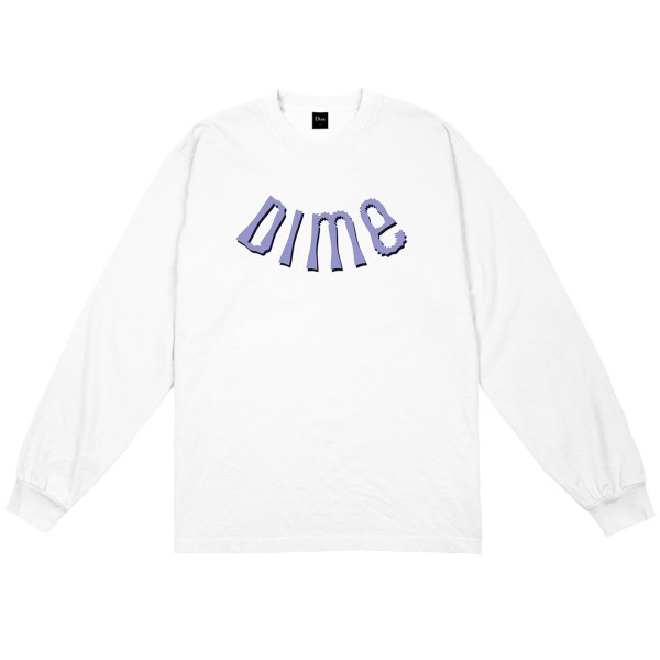 Dime Whirl Long Sleeve T-Shirt (White)