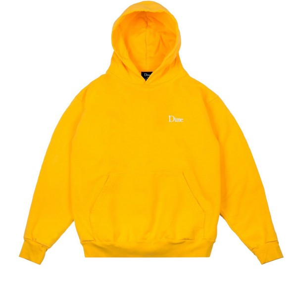 Dime Classic Embroidered Pullover Hooded Sweatshirt (Yellow)