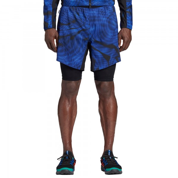 adidas TERREX by White Mountaineering 2-in-1 Shorts (Collegiate Royal)