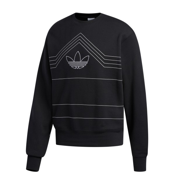 adidas Originals Rivalry Crew Neck Sweatshirt (Black/White)