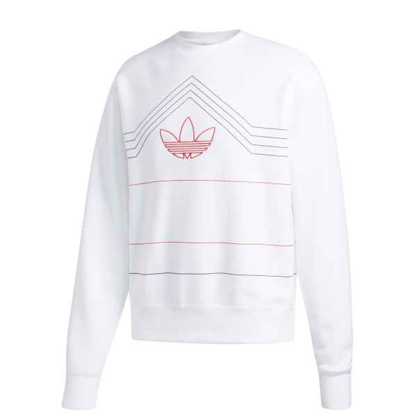 adidas Originals Rivalry Crew Neck Sweatshirt (White/Scarlet)