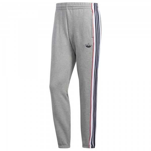 adidas 3-Stripes Panel Joggers (Medium Grey Heather/White)