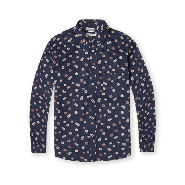 Edwin Classic Slim Fit Shirt (Blue Allover Print)