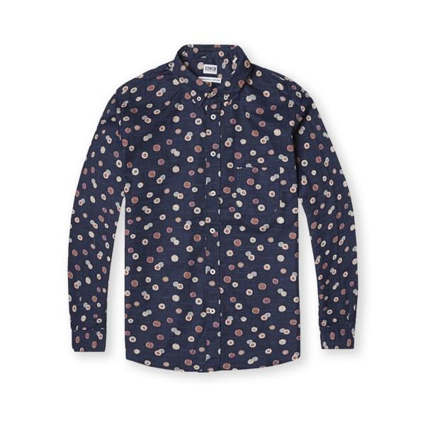 Edwin Classic Slim Fit Shirt (Blue Allover Print)