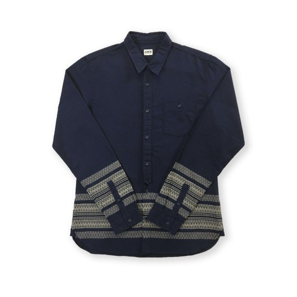 Edwin Simple Shirt (Dark Navy Garment Washed)