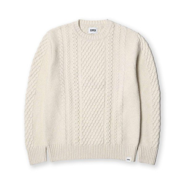 Edwin United Ecoplanet Wool Blended Sweater (Natural Garment Washed)