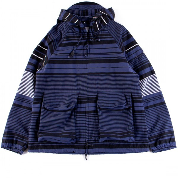 Engineered Garments Atlantic Parka (Navy Horizontal Stripe Activecloth)
