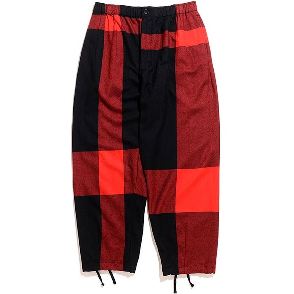 Engineered Garments Balloon Pant (Black Big Plaid Worsted Wool Flannel)