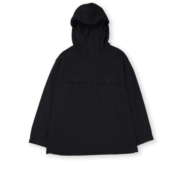 Engineered Garments Cagoule Shirt (Black Cotton Waffle Pique)