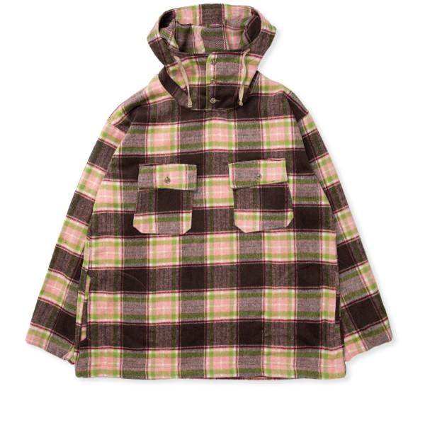 Engineered Garments Cagoule Shirt (Brown Pink Poly Wool Plaid)