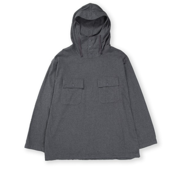 Engineered Garments Cagoule Shirt (Dark Grey Brushed Cotton Twill)