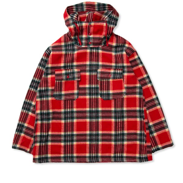 Engineered Garments Cagoule Shirt (Red Green Poly Wool Plaid)