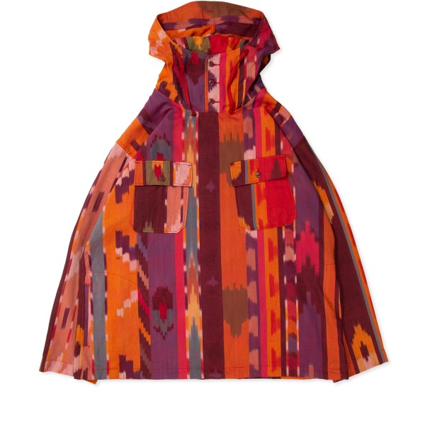 Engineered Garments Cagoule Shirt (Red Orange Cotton Ikat)