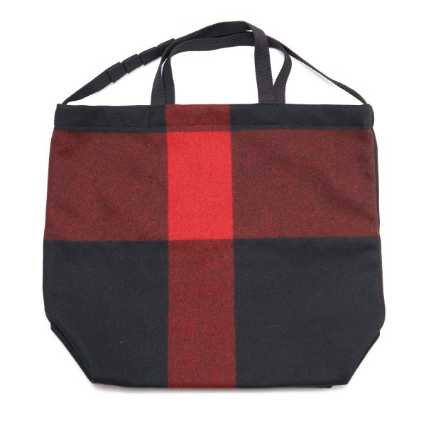 Engineered Garments Carry All Tote w/ Strap (Black Big Plaid Wool Melton)