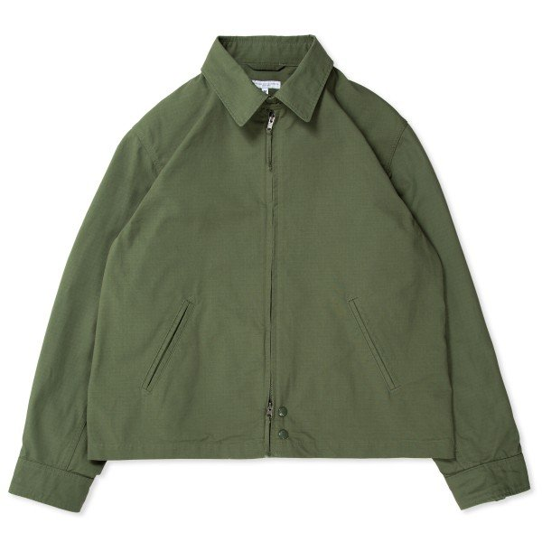 Engineered Garments Claigton Jacket (Olive Cotton Ripstop)