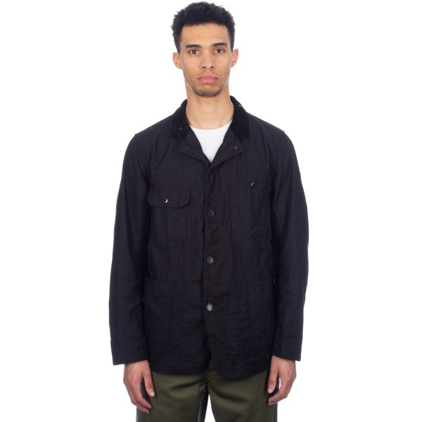 Engineered Garments Coverall Jacket (Black Cotton Reversed Sateen)