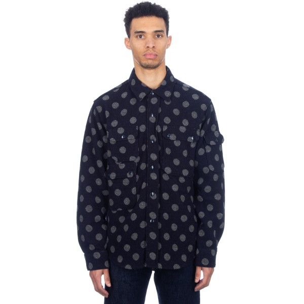 Engineered Garments CPO Jacket (Navy/Grey Polka Dot Jacquard)