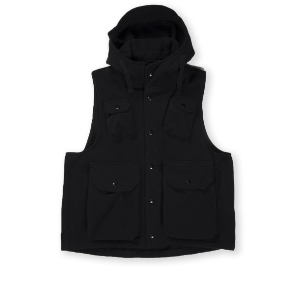 Engineered Garments Field Vest (Black Polyester Fake Melton)