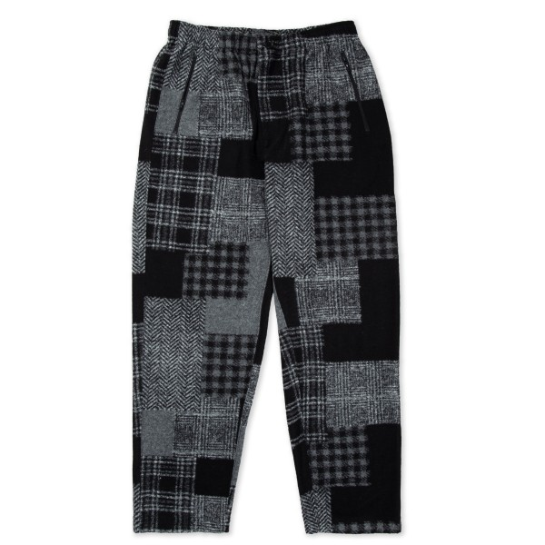 Engineered Garments Jog Pant (Black Grey Knit Patchwork Herringbone)
