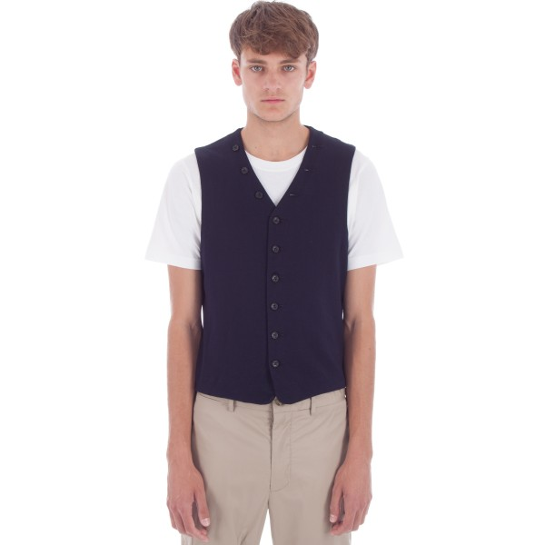 Engineered Garments Knit Vest (Dark Navy French Terry)